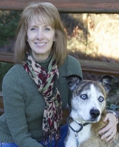 Executive Director, Terri Inglis, with her loyal companion Grimm
